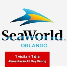 SeaWorld Parks - 1 visita + All Day Dining Deal (Ingresso Eletrônico)